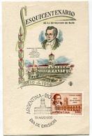 FDC ESQUICENTENARIO DE LA REVOLUCION DE MAYO MARIANO MORENO 1810 1960 DIA DE EMISION 28/05/1960 ARGENTINA - FDC