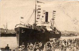STETTINO-1920-NAVE- CEUTA- IN PORTO - Polonia