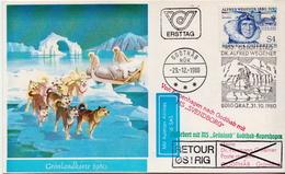 Postal History: Austria Card, Grönlandkarte - Arctic Expeditions