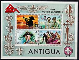 A5382 ANTIGUA 1975, SG MS448 World Scout Jamboree,  MNH - Antigua And Barbuda (1981-...)