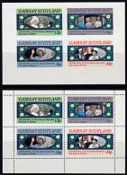 B5289 GAIRSAY (Scotland, Bogus Stamps) 85th Birthday Queen Elizabeth Queen Mother, Perf & Imperf,  MNH - Europe (Other)