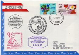 Postal History: Austria Card, Airship HB-BWA - Airships