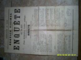 30 GARD ARRETE ENQUETE NIMES VALLERAUGUE LES PLANTIERS FLORAC - Historical Documents