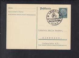 Dt. Reich GSK 1938 Stempel HJ Marschiert Gautag Sachsen - Germania
