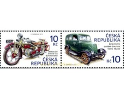 Ref. 306685 * MNH * - CZECH REPUBLIC. 2013. MOTO Y COCHE HISTORICOS - Tchéquie