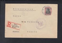 Dt. Reich R-Brief 1915 Essen Nach Luzern Zensur - Deutschland