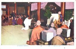 POSTAL   JAPON  - A BUDDHIST CEREMONY  ( UNA CEREMONIA BUDISTA ) - Japón