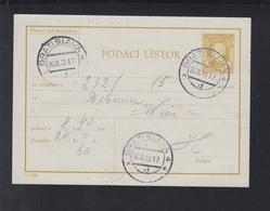 Slovakia Podaci Listok 1940 - Postal Stationery