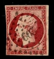 France YT N° 18 Oblitéré. Timbre Rare! A Saisir - 1853-1860 Napoléon III.