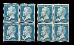 France Pasteur YT N° 180/181 En Blocs De 4 Neufs ** MNH. TB. A Saisir! - Frankreich