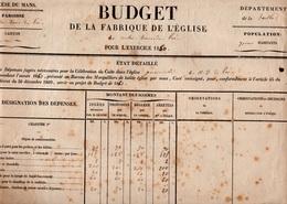 72 LA SARTHE EGLISE DOCUMENT HISTORIQUE LE MANS PAROISSE - Historical Documents