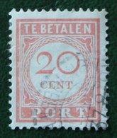 Port Postage Due 20 Ct NVPH P31 1913-1940 Gestempeld / Used NEDERLAND INDIE / DUTCH INDIES - India Holandeses
