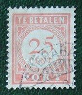 Port Postage Due 25 Ct NVPH P32 1913-1940 Gestempeld / Used NEDERLAND INDIE / DUTCH INDIES - India Holandeses