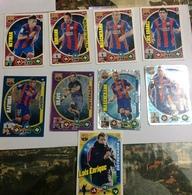 PANINI-CARTE FOOTBALL- JOUEURS-NEYMAR-ADRIANO-MASCHERANO-LUIS SUAREZ-BRAVO-RAFINHA-INIESTA-LUIS ENRIQUE - Panini