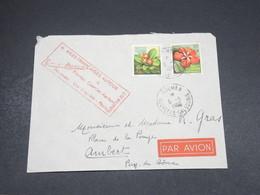 NOUVELLE CALÉDONIE - Enveloppe 1er Vol Nouméa / Los Angeles / Paris En 1960 , Publicité Touristique Au Verso - L 18705 - Briefe U. Dokumente