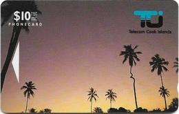 Cook Islands - ''Kinky'' Coconut Palm $10, 01CIC, 8.500ex, Used - Islas Cook