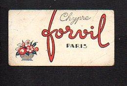 """Carte Parfumée """" Chypre """" Parfum De Forvil Paris - Perfume Cards"""