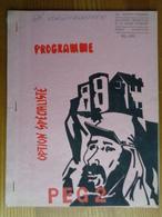 1er REGIMENT ETRANGER MAI 1966 PROGRAMME INTRUCTION - Dokumente