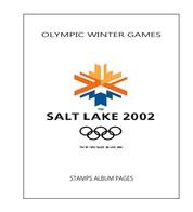 Suplemento Filkasol TEMATICA OLYMPIC WINTER GAMES SALT LAKE CITY 2002 - Montado HAWID Transparente - Álbumes & Encuadernaciones