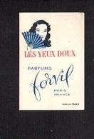 """Carte Parfumée """" Les Yeux Doux """" Parfum De Forvil Paris - Cartes Parfumées"""