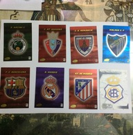 PANINI-CARTE FOOTBALL- JOUEURS-MALAGE CF-CD NUMANCIA- C AT OSASUNA-R.RACING C.-AT.DE MADRID- R.MADRID-FC.BARCELONA- AC.R - Panini