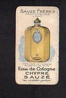 Carte Parfumée Eau De Cologne Chypre Sauzé / Parfumeurs Sauzé Frères Paris - Cartes Parfumées