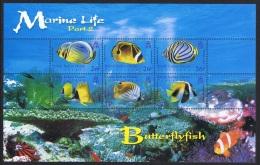 BIOT Butterflyfish Marine Life 2nd Series MS SG#MS354 - British Indian Ocean Territory (BIOT)