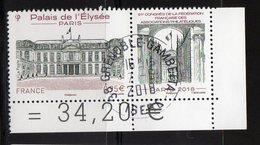 France 2018.Palais De L'Elysée.Cachet Rond Gomme D'origine. - France
