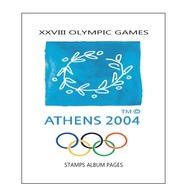 Suplemento Filkasol XXVIII OLYMPIC GAMES ATENAS 2004 - Montado Con Filoestuches HAWID Transparentes - Álbumes & Encuadernaciones