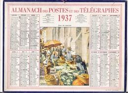 ALMANACH DES POSTES ET DES TELEGRAPHES / CALENDRIER DE 1937 / JOUR DU MARCHE ( Bretagne ) / Dép. SEINE & OISE - Calendars