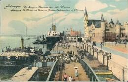 Ansichtskarte Antwerpen Anvers Hafen, Museum 1915 - Belgium