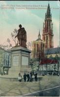 Ansichtskarte Antwerpen Anvers Place Verte, Kinder Vor Der Statue 1915  - Belgium