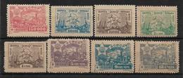 1923 TRANSCAUCASIAN SET OF 8 MLH STAMPS (Michel # 20,22,23,28,30,31,32,33) - Géorgie