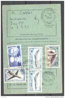 Ordre De Réexpédition Définitif - Cachet 30/11/1967 Garges Les Gonesse - Timbres Mystère 20, Caravelle, Ronchamp... - Documents Of Postal Services