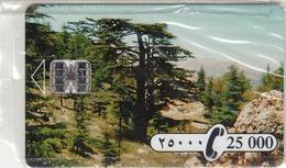 LEBANON - Cedar Tree Sodetel, 25,000 ل.ل  Lebanese Pound, Mint - Liban