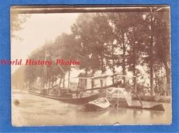 Photo Ancienne - Ecluse / Canal à Situer - Passage D'une Péniche - Batellerie Bateau Ship Boat - Schiffe