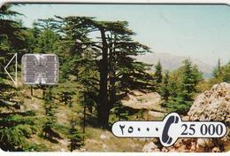 LEBANON - Cedar Tree Sodetel, 25,000 ل.ل  Lebanese Pound, Used - Lebanon