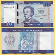 Liberia 10 Dollars P-32 2016 UNC - Liberia