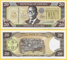 Liberia 20 Dollars P-28b 2004 UNC - Liberia