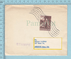 Vatican -  1958, Philatelic Envelope With 1958 Stamp Cost Inside, Vatican Crest At Back - Lettres & Documents