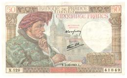 Billets >  France > 50 F 1941 - 1871-1952 Anciens Francs Circulés Au XXème