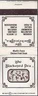 NL.- Lucifermapje. THE BLACK-EYED PEA. ADDISON ARLINGTON BEAUMONT DALLAS EL PASO Matchbox Allumettes Luciferdoos Lucifer - Matchboxes