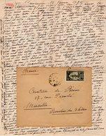 VP12.205 - Lettre De Mme La Comtesse De LEUSSE à MAZAGAN (Maroc ) Pour Mme La Comtesse De PERINI à MARSEILLE - Manuscripts
