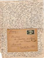 VP12.207 - Lettre De Mme La Comtesse De LEUSSE à MAZAGAN (Maroc ) Pour Mme La Comtesse De PERINI à MARSEILLE - Manuscripts