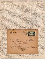 VP12.208 - Lettre De Mme La Comtesse De LEUSSE à MAZAGAN (Maroc ) Pour Mme La Comtesse De PERINI à MARSEILLE - Manuscripts
