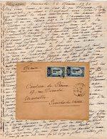 VP12.209 - Lettre De Mme La Comtesse De LEUSSE à MAZAGAN (Maroc ) Pour Mme La Comtesse De PERINI à MARSEILLE - Manuscripts