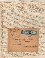 VP12.211 - Lettre De Mme La Comtesse De LEUSSE à MAZAGAN (Maroc ) Pour Mme La Comtesse De PERINI à MARSEILLE - Manuscripts