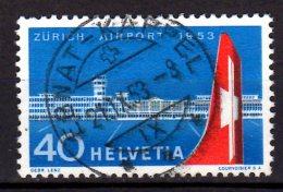 1953 Switzerland / Schweiz -Flug Zürich - Kloten / Flight Zürich - Kloten - Airplane - 1 V - MI 585 - Used  -fff17.1 - Usados