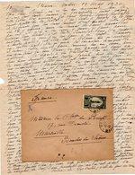 VP12.212 - Lettre De Mme La Comtesse De LEUSSE à MAZAGAN (Maroc ) Pour Mme La Comtesse De PERINI à MARSEILLE - Manuscripts