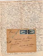 VP12.213 - Lettre De Mme La Comtesse De LEUSSE à MAZAGAN (Maroc ) Pour Mme La Comtesse De PERINI à MARSEILLE - Manuscripts